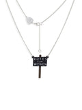 'Votes For Women' placard necklace