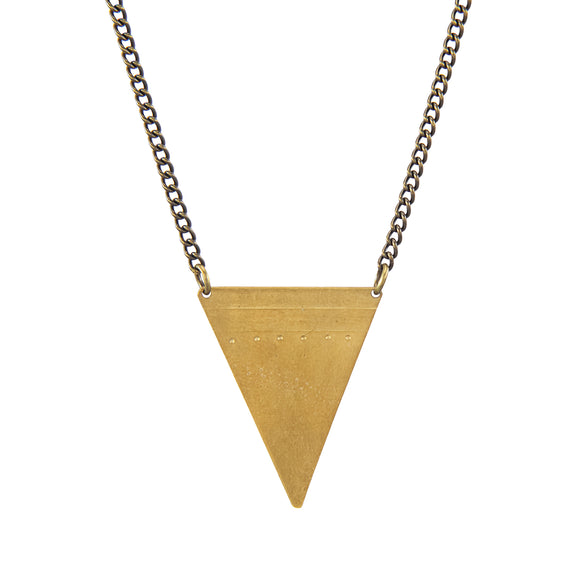Triangle spearhead necklace