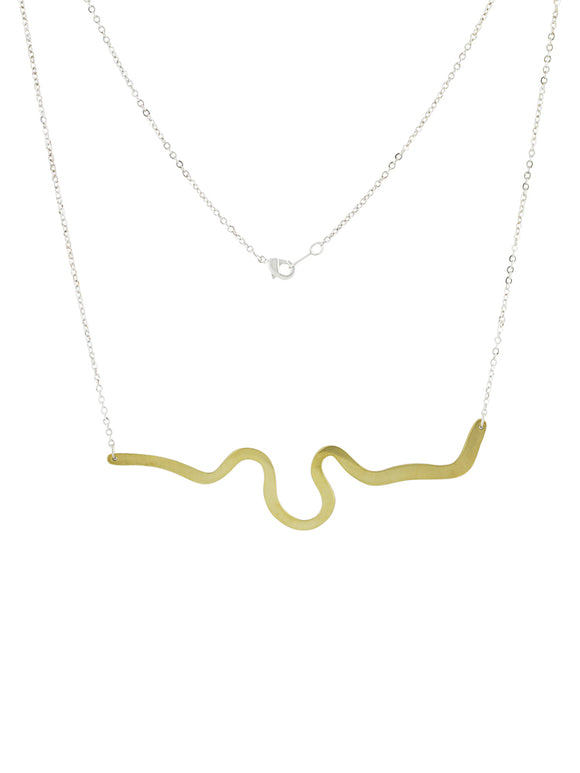 Brass river necklace