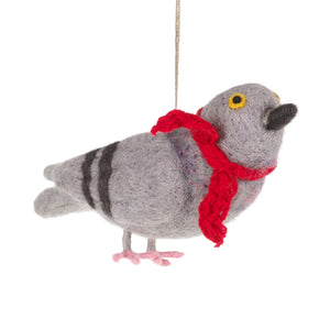 Pigeon with Scarf Decoration