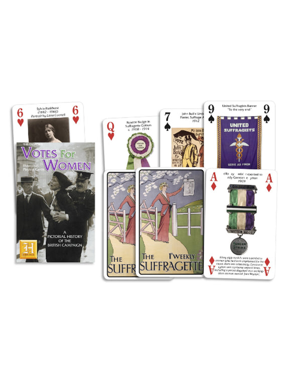 Suffragette playing cards