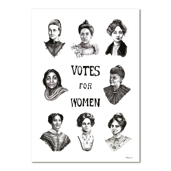 Votes For Women Portraits Print