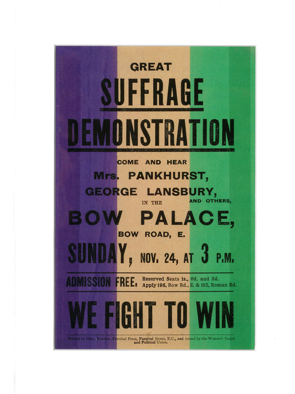 'Suffragette Demonstration' print