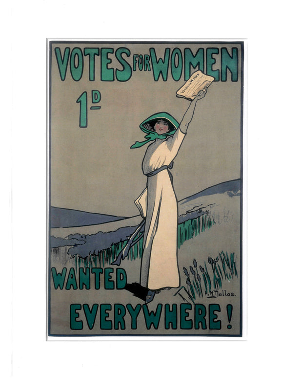 'Votes For Women' print