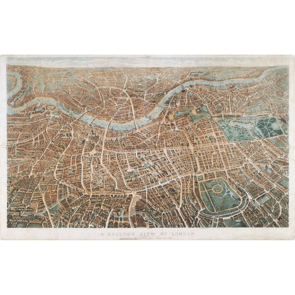 Balloon View of London Print A3