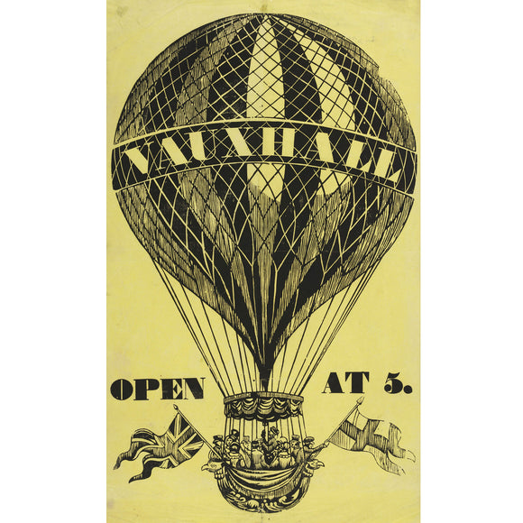 Vauxhall Ballooning Poster Print A3