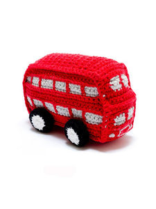 Bus knitted rattle