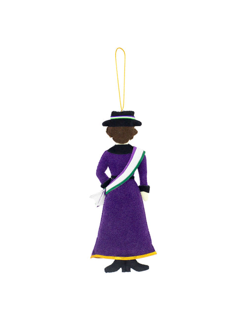 Suffragette fabric decoration