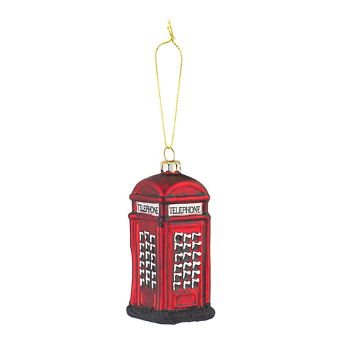 Telephone Box Glass Decoration
