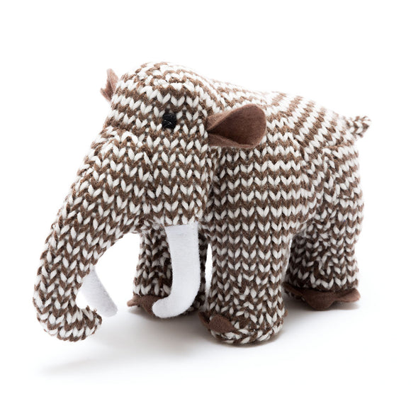 Mammoth knitted rattle