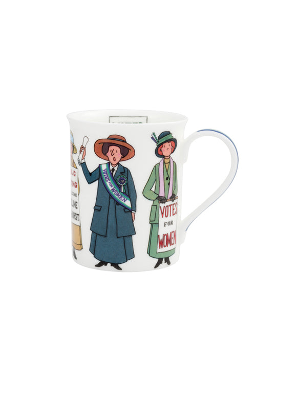 Illustrated Suffragette mug