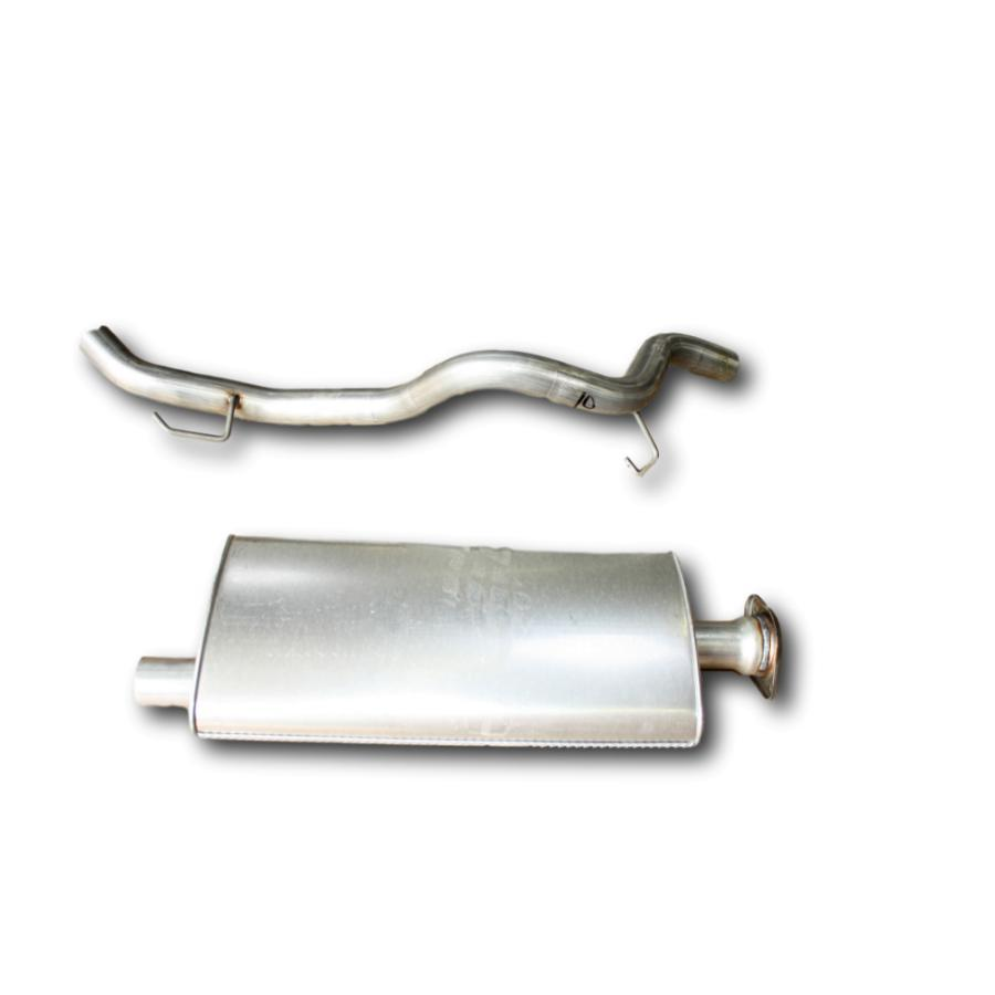 Jeep Liberty 2002-2006 muffler and tailpipe 2.4L 4cyl diesel