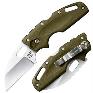 Cold Steel Tuff Lite Folder 2.5in Plain Green Polymer Handle