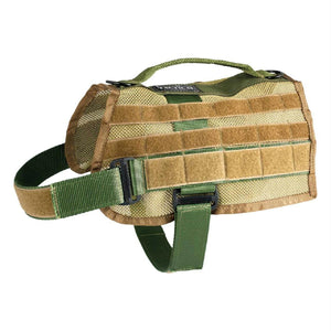 US Tactical K9 MOLLE Vest - Olive Drab - Large