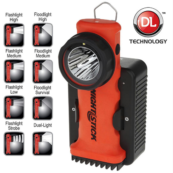Nightstick Angle Light Rechargeable Red 200 Lumens