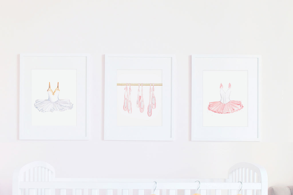 Ballet themed nursery or little girl's room