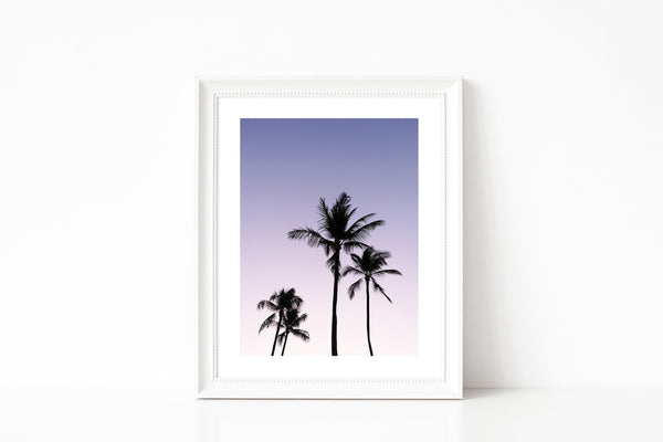 Beach Decor Coastal Art Palm Trees Hawaii Maui Beach Sunrise