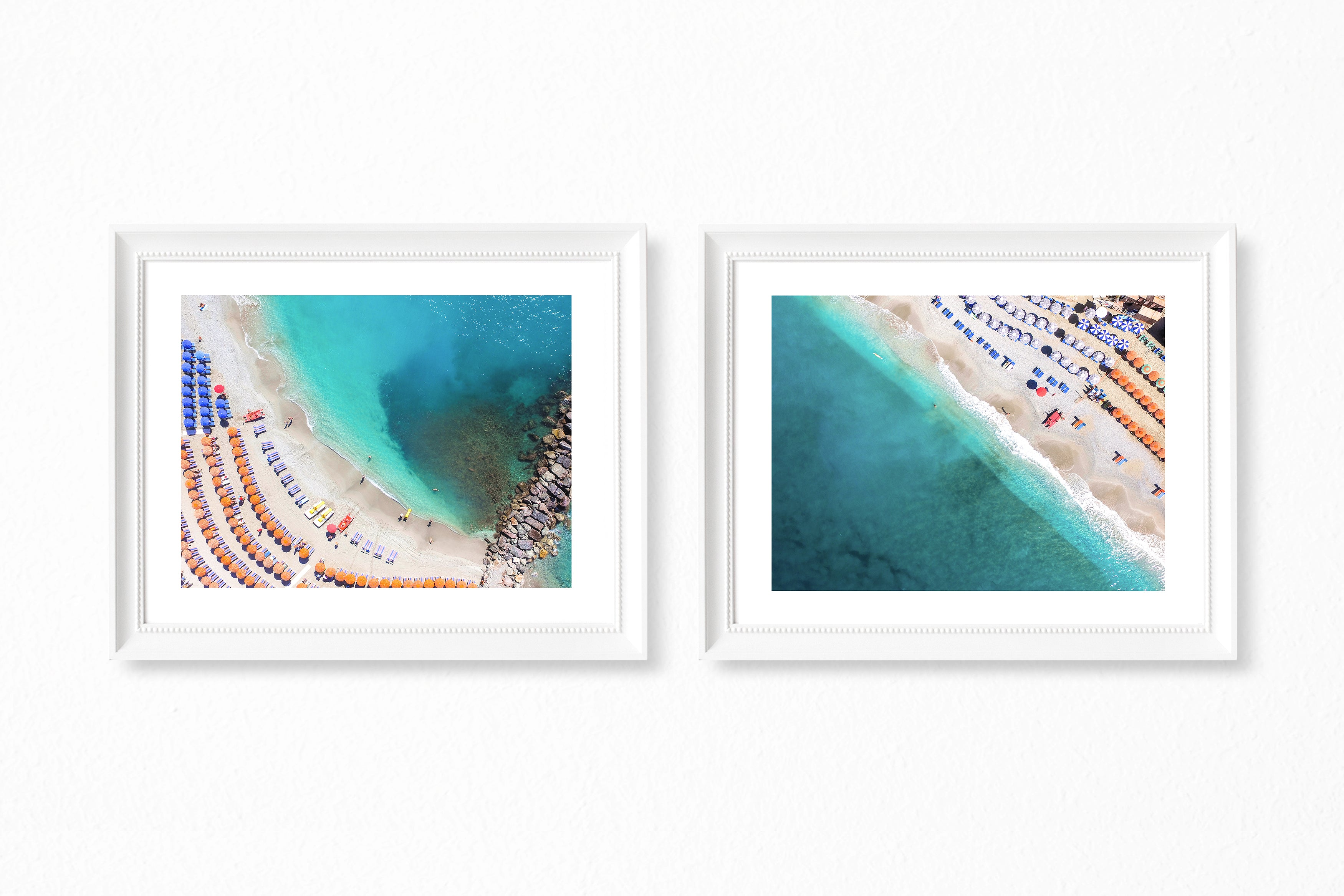 Cinque Terre Beach Photography - Set of 2 Photography Prints