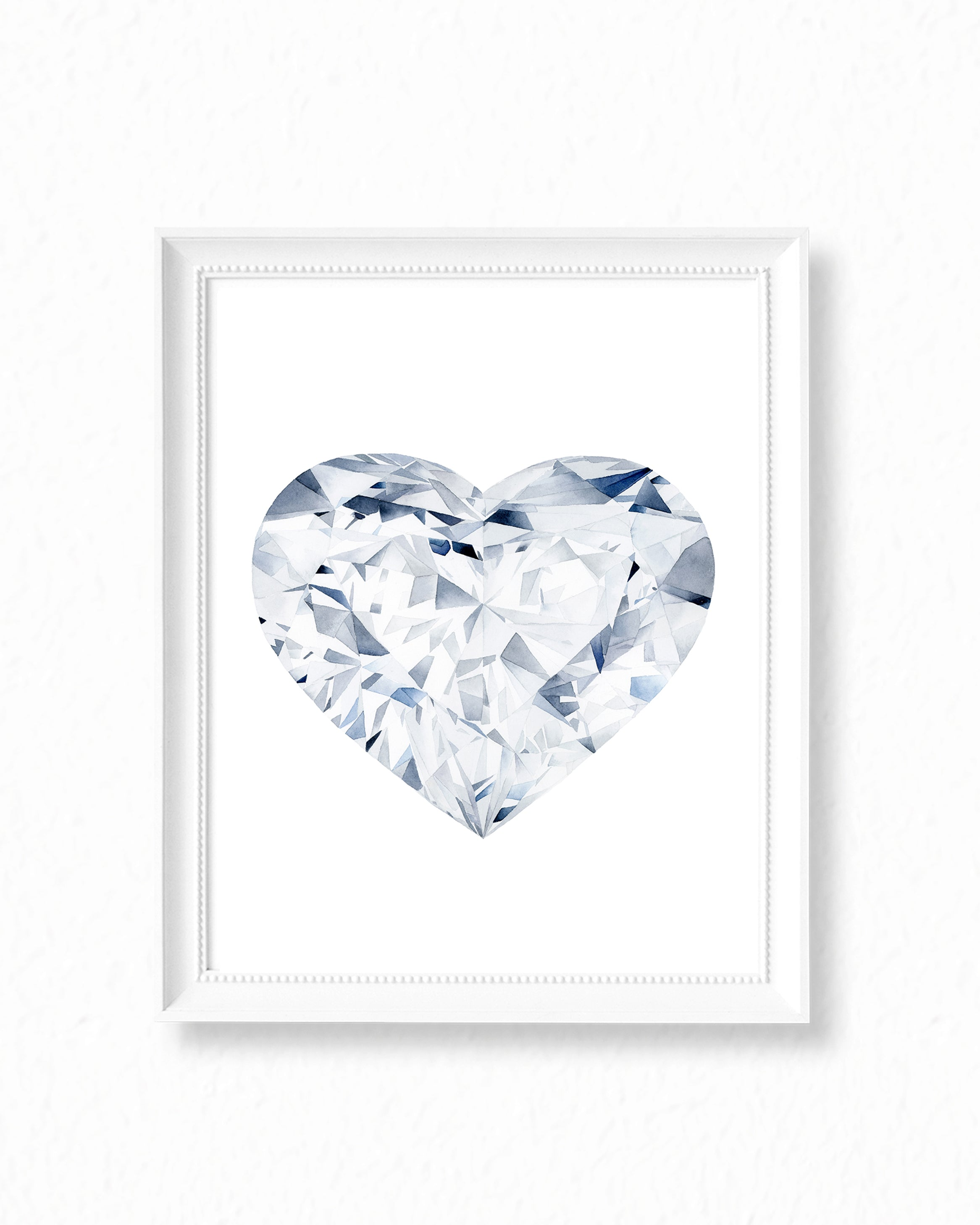 Watercolor Diamond Painting - Heart Diamond - Art Print