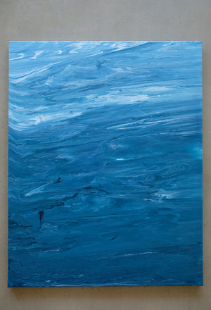 Ocean III Abstract Acrylic Painting - Original Painting 24 x 30 inches