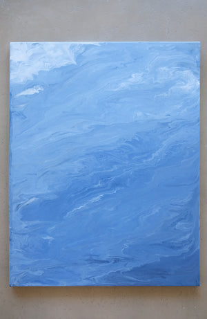 Ocean II Abstract Acrylic Painting - Original Painting 24 x 30 inches