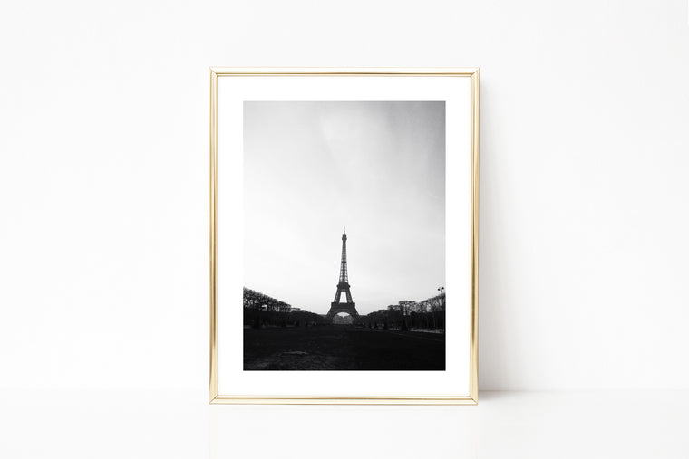 Black and White Paris Eiffel Tower Photography