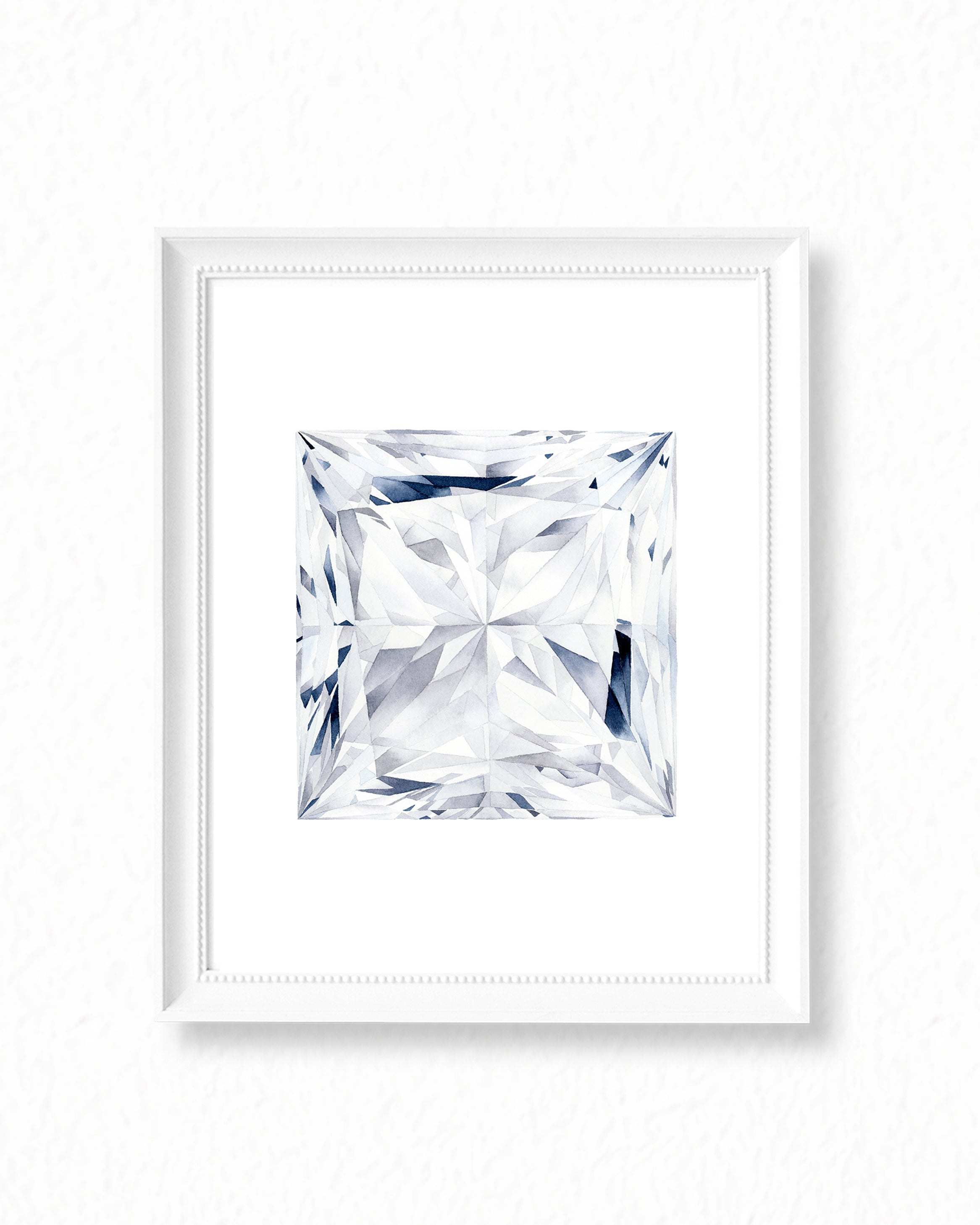 Watercolor Diamond Painting - Princess Diamond Cut - Art Print