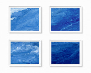 Ocean Paintings - Calm Ocean - Set of 4 Horizontal