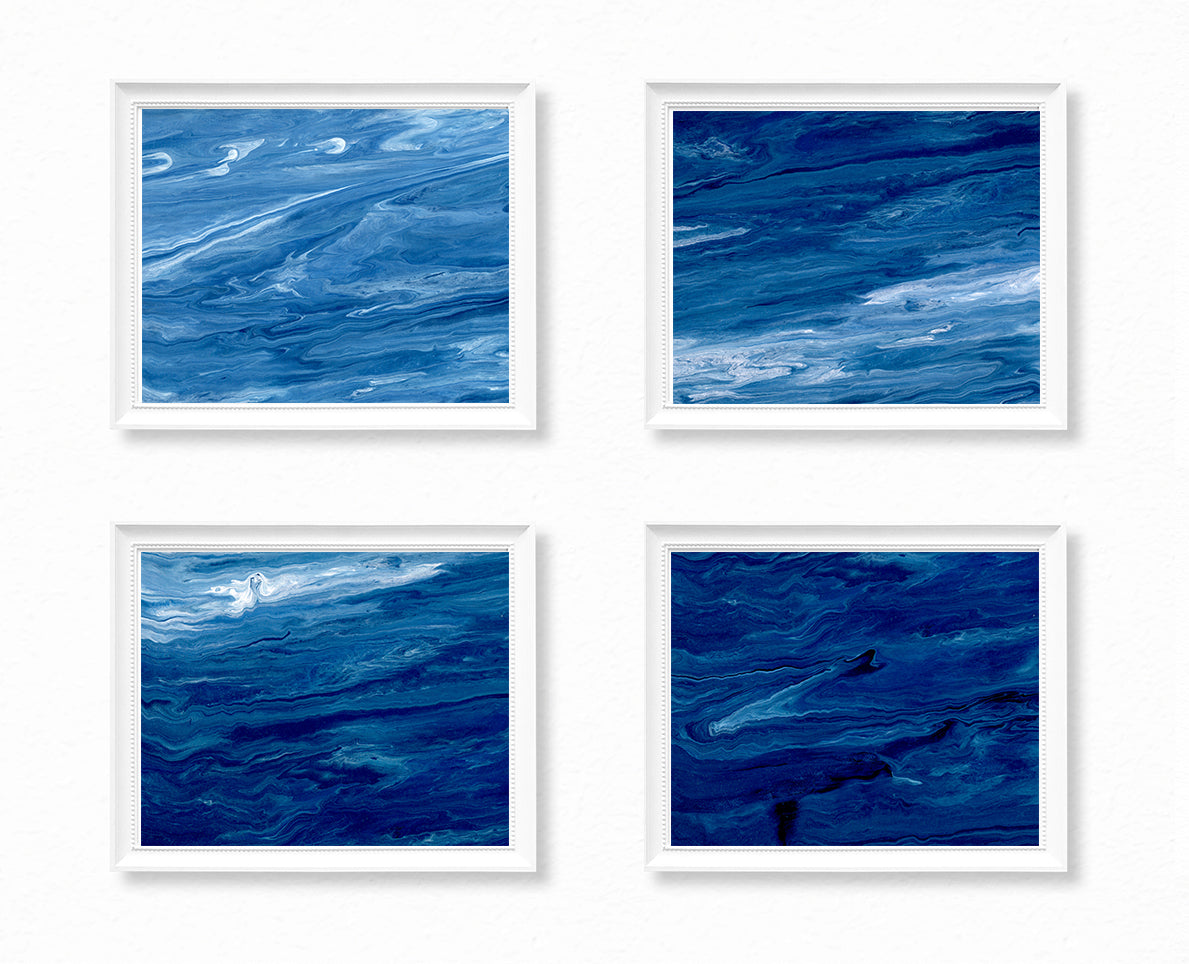 Ocean Paintings - Deep Ocean - Set of 4
