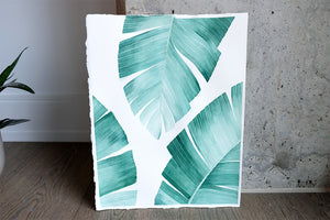 Original Painting - Watercolor Tropical Leaves I 11x15