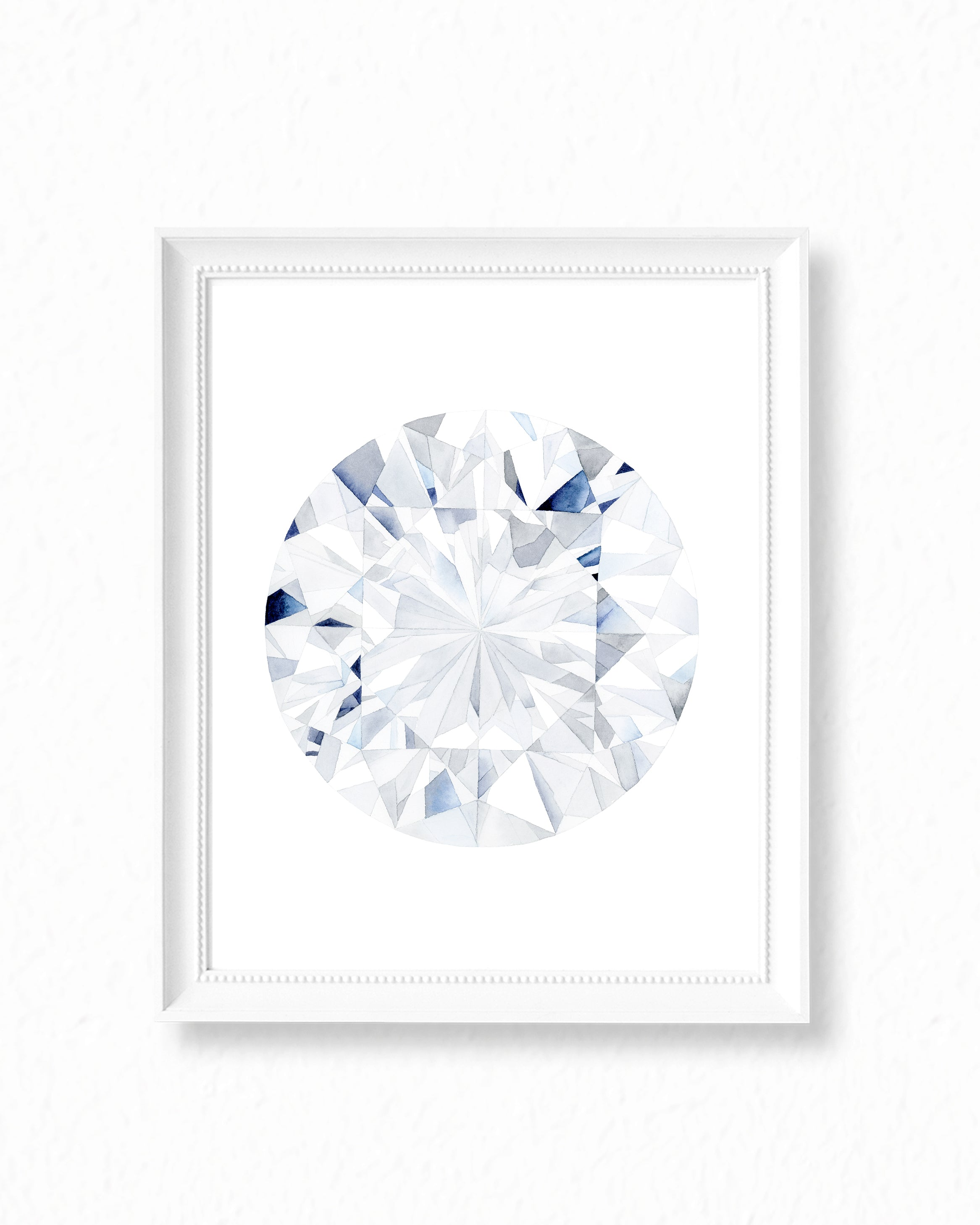 Watercolor Diamond Painting - Round Diamond Cut - Art Print