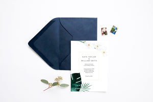 Hawaiian Beach Wedding Invitation