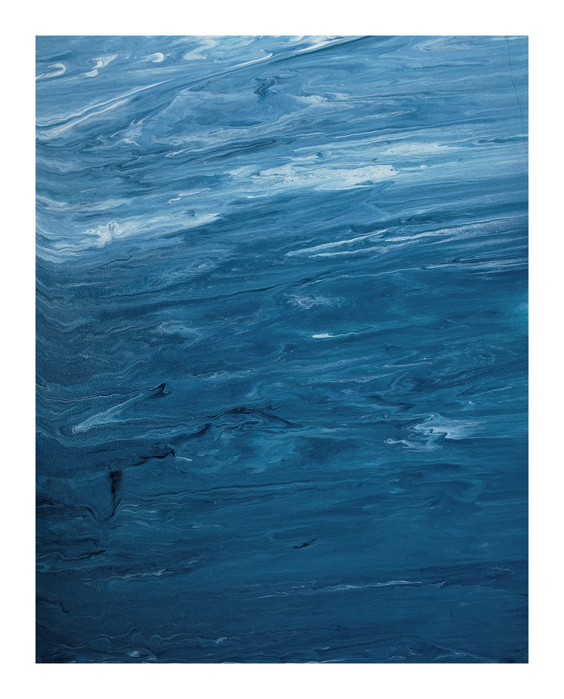 Ocean III - Ocean Abstract Acrylic Painting - Art Print