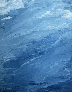 Ocean II - Ocean Abstract Acrylic Painting - Art Print