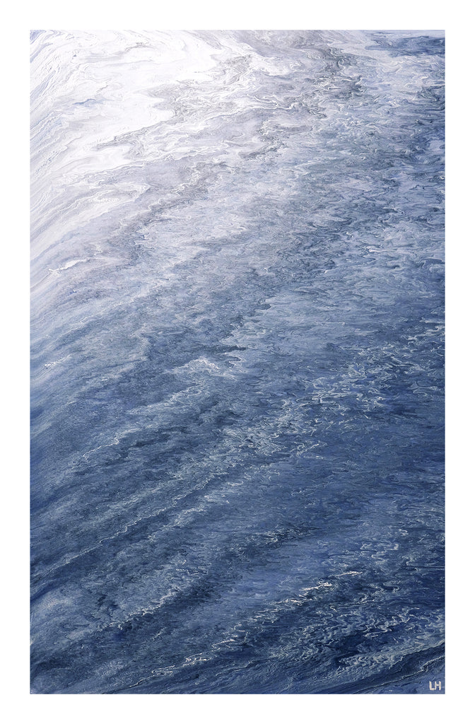 Ocean Abstract Acrylic Painting - Canvas Art Print