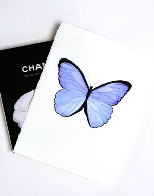 Original Painting - Watercolor Blue Butterfly 11x15