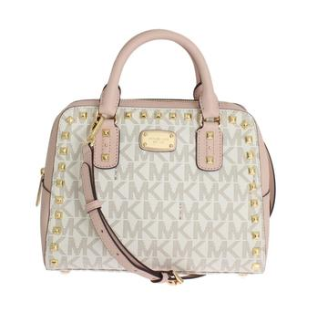 Michael Kors Pink Sandrine Leather Satchel Handbag for Less at LUXEWOW.COM