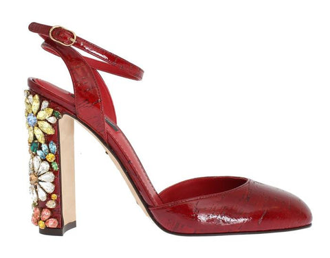Dolce and Gabbana Red Leather Shoes Designer Shoe Outlet