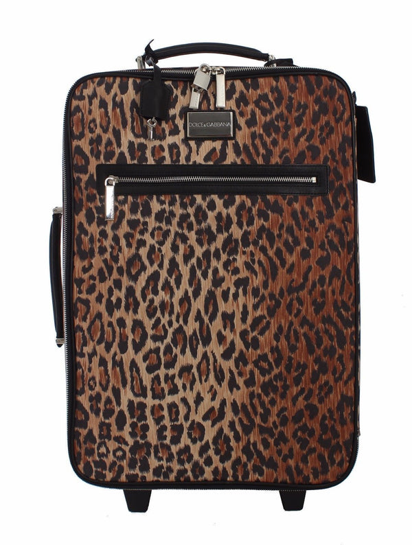 Luggage Bag Leopard Travel Cabin Suitcase Trolley