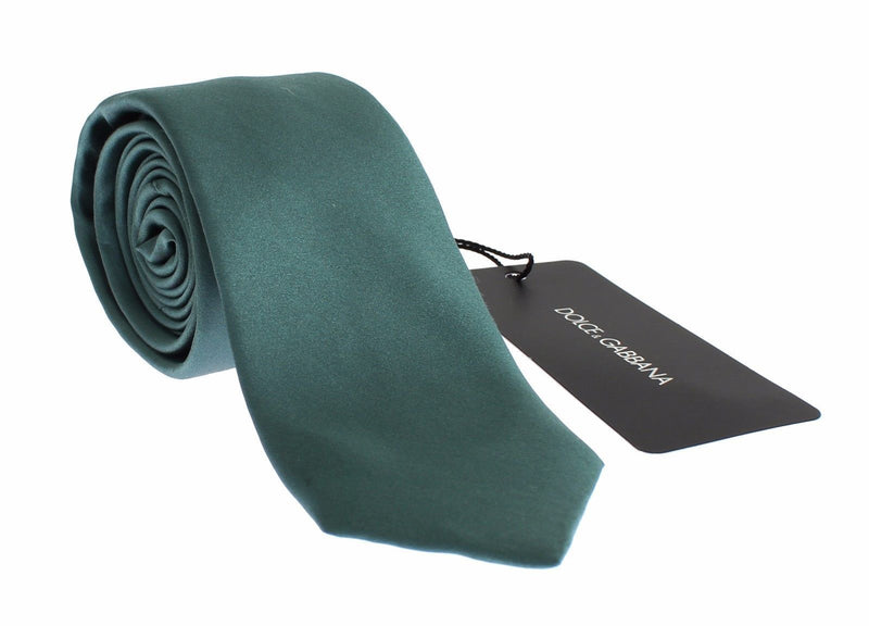 Green Silk Classic Slim Neck Tie