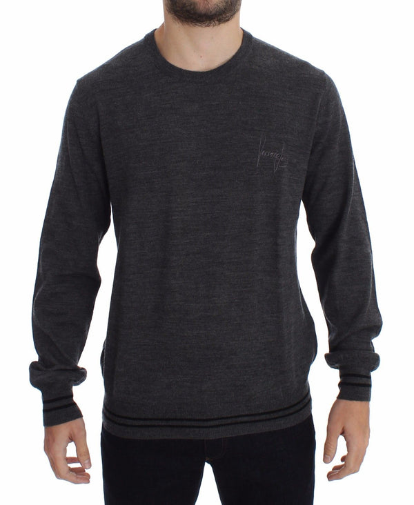 Gray Wool Crew-neck Sweater