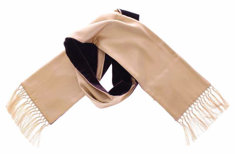 Scarf Men's Beige Silk