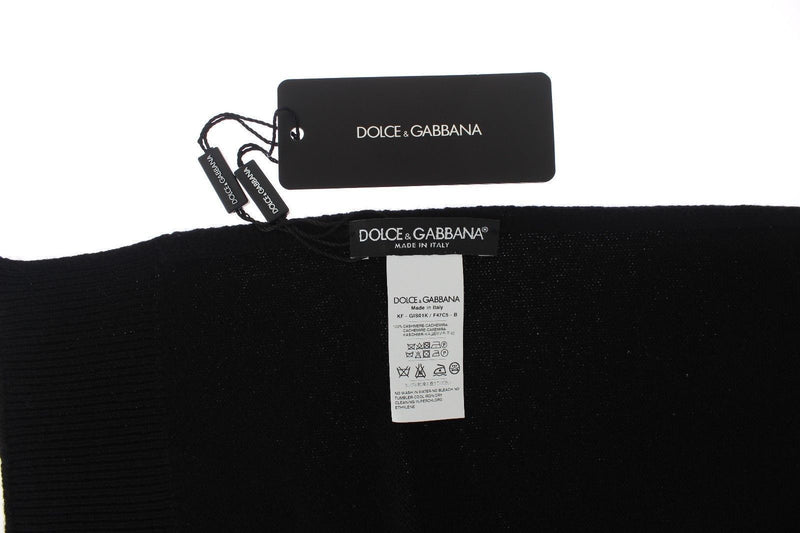 Black Cashmere Mens Scarf