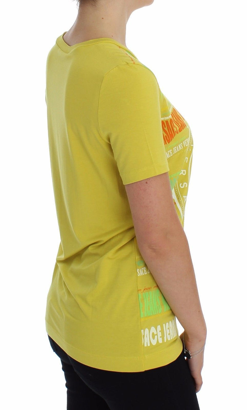 Yellow Crewneck Studded T-shirt