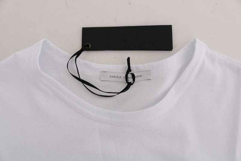 White Cotton Crewneck T-Shirt