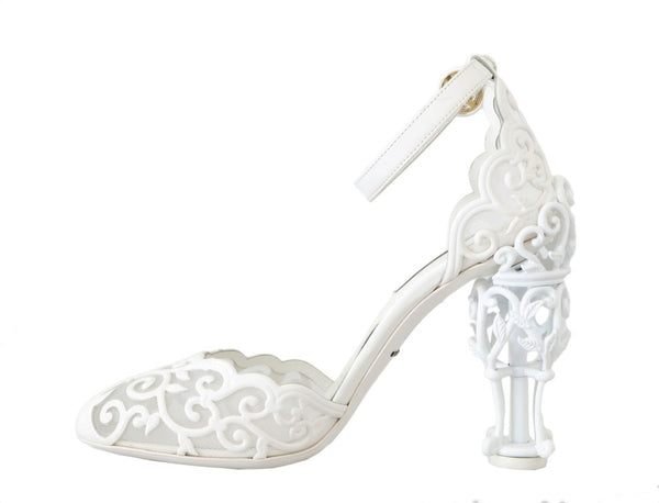 White Ankle Strap Fairytale Shoes