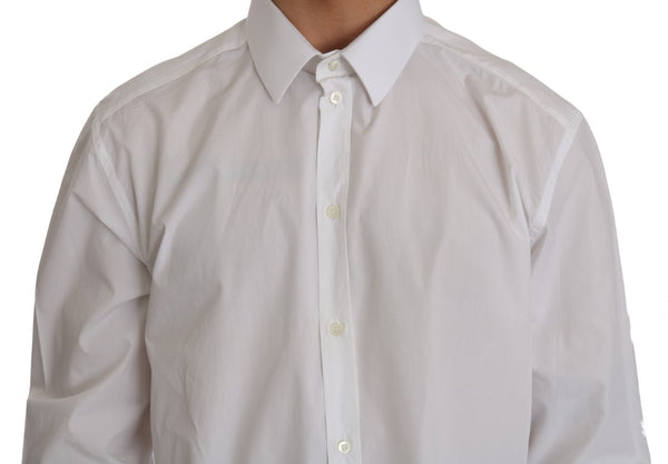 White  Cotton GOLD Slim Shirt