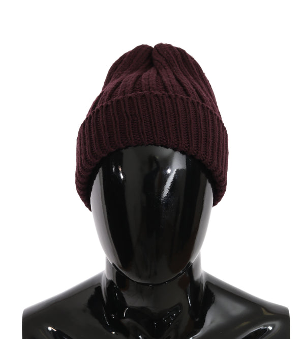 Beanie Wool Bordeaux Winter Warm Hat