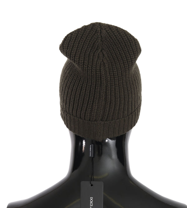 Green Beanie Wool Knitted Winter Warm Hat