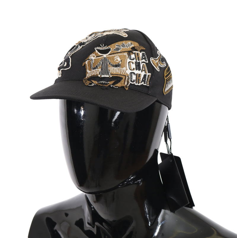Gray Gold Cotton Silk Music Baseball Cap